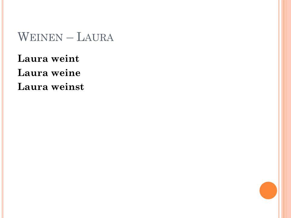 W EINEN – L AURA Laura weint Laura weine Laura weinst