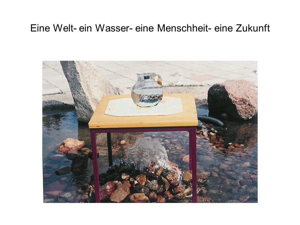 Eine Welt- ein Wasser- eine Menschheit- eine Zukunft