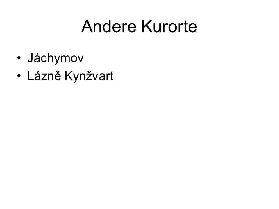 Andere Kurorte Jáchymov Lázně Kynžvart