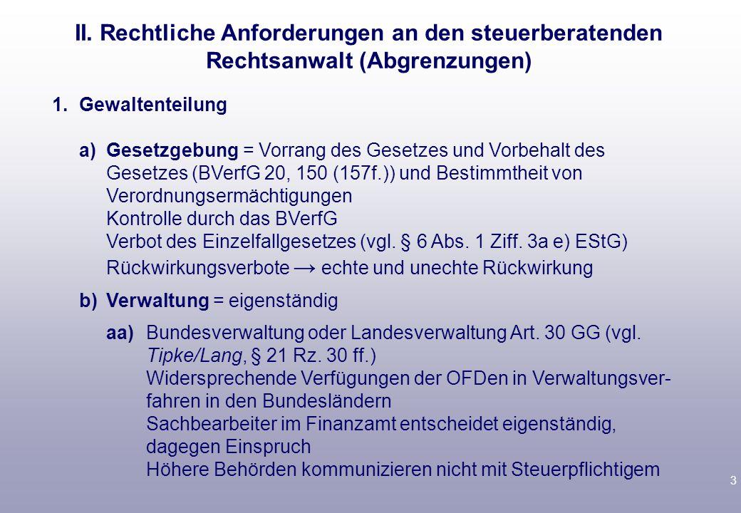 3 1.Gewaltenteilung a)Gesetzgebung = Vorrang des Gesetzes und Vorbehalt des Gesetzes (BVerfG 20, 150 (157f.)) und Bestimmtheit von Verordnungsermächti