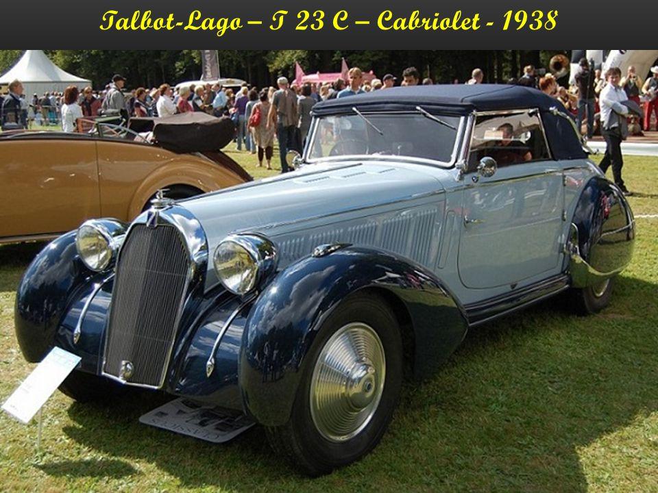 Talbot-Lago – T 23 – Cabriolet - 1938