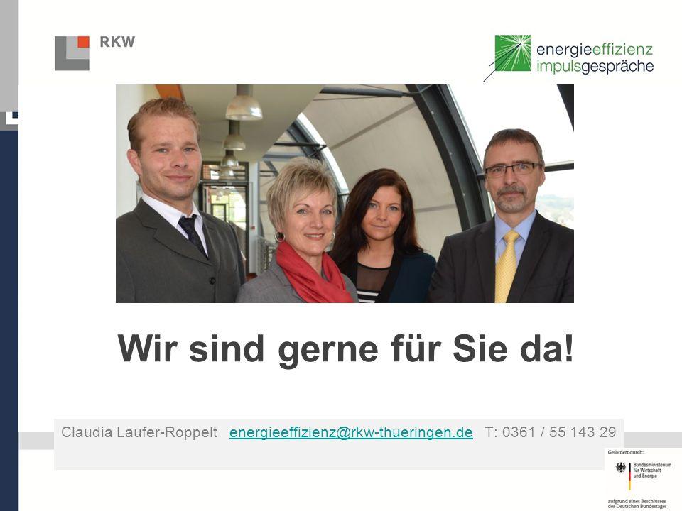 Wir sind gerne für Sie da! Claudia Laufer-Roppelt energieeffizienz@rkw-thueringen.de T: 0361 / 55 143 29energieeffizienz@rkw-thueringen.de