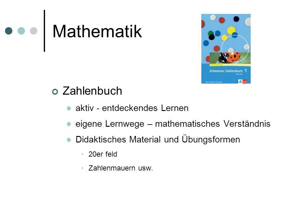 Mathematik Zahlenbuch aktiv - entdeckendes Lernen eigene Lernwege – mathematisches Verständnis Didaktisches Material und Übungsformen 20er feld Zahlen