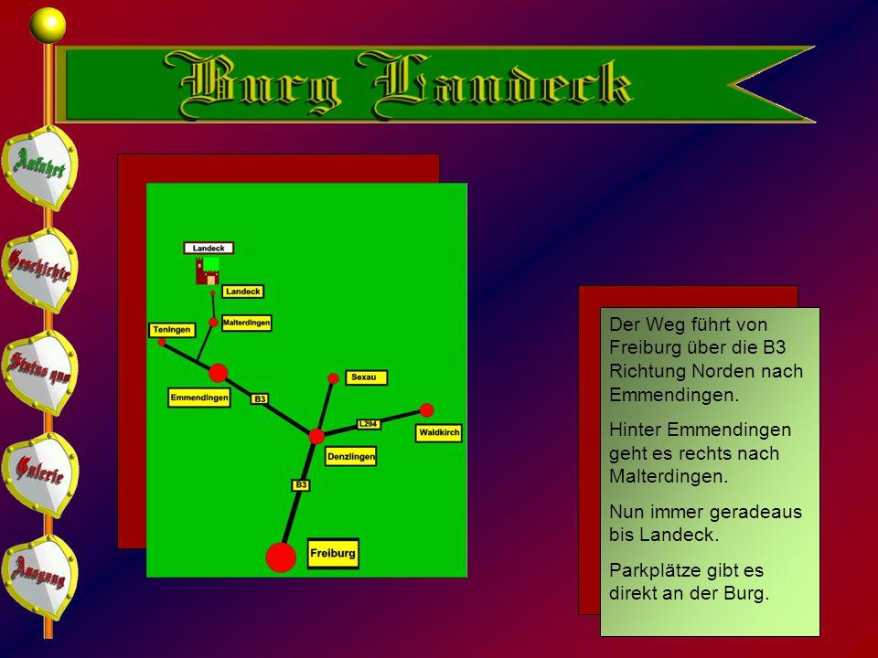 Der Weg führt von Freiburg über die B3 Richtung Norden nach Emmendingen.