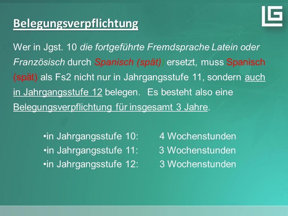 Belegungsverpflichtung Wer in Jgst.