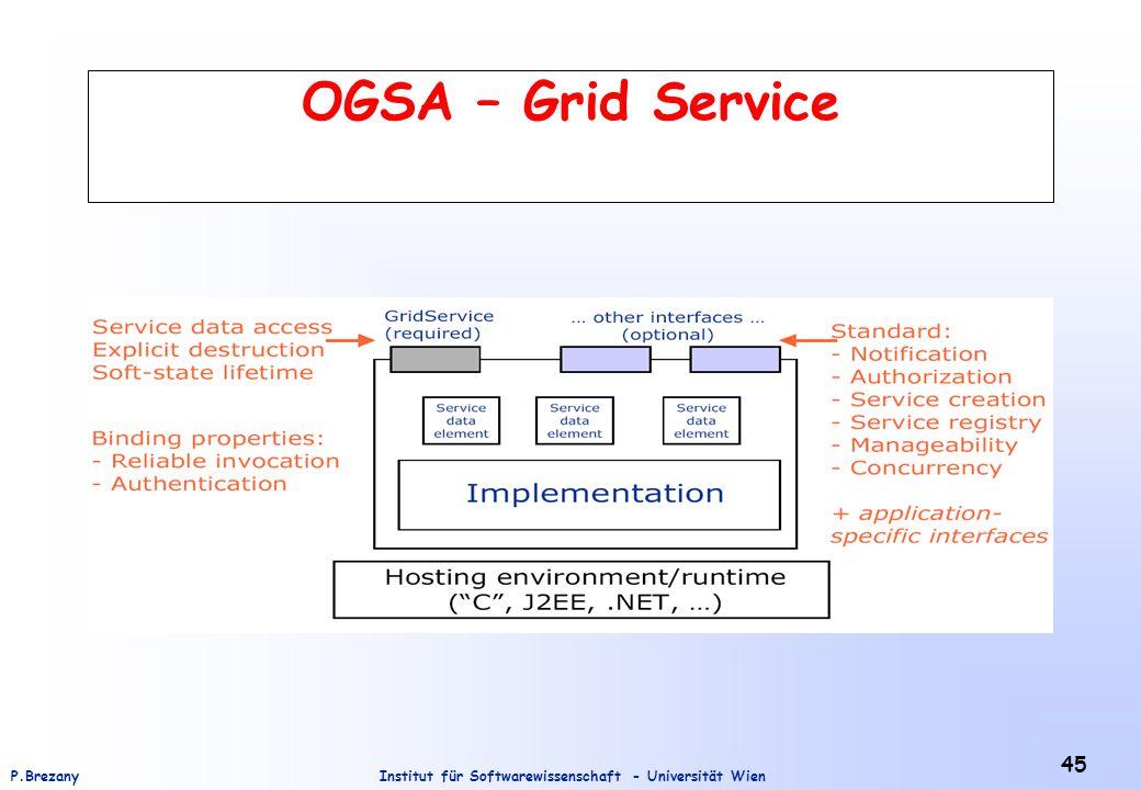 Institut für Softwarewissenschaft - Universität WienP.Brezany 45 OGSA – Grid Service