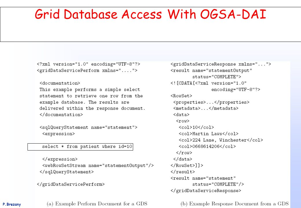 Institut für Softwarewissenschaft - Universität WienP.Brezany 61 Grid Database Access With OGSA-DAI