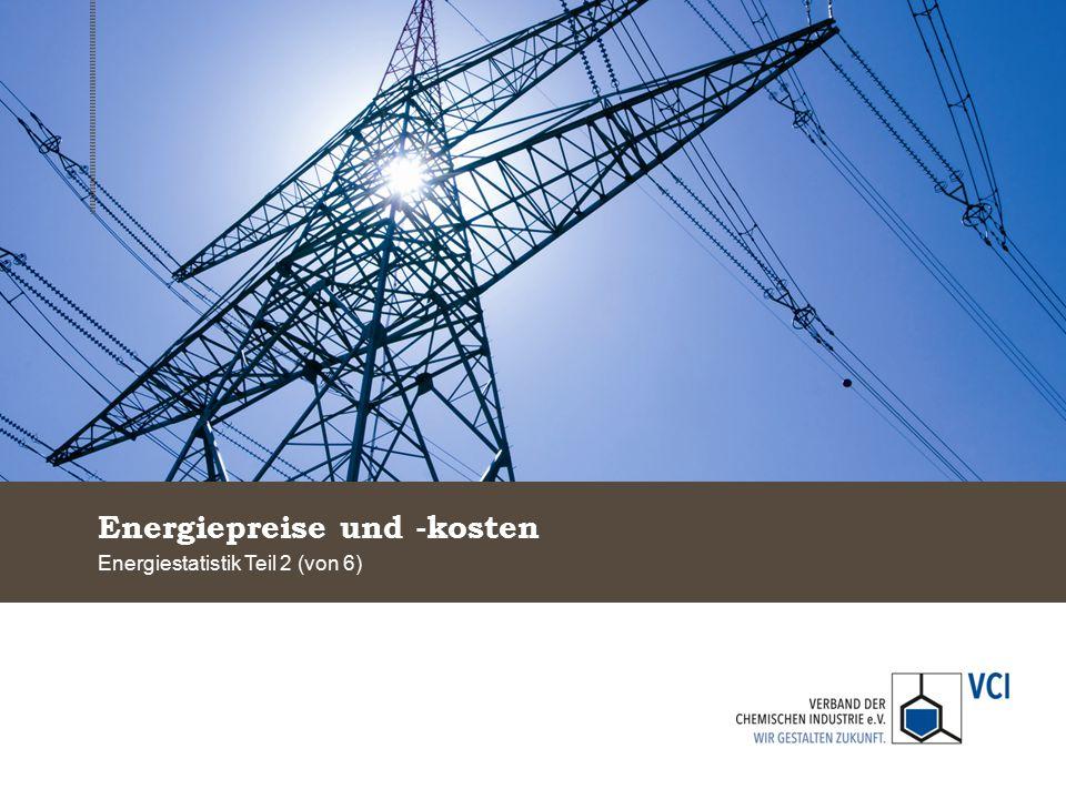 Energiepreise und -kosten Energiestatistik Teil 2 (von 6)