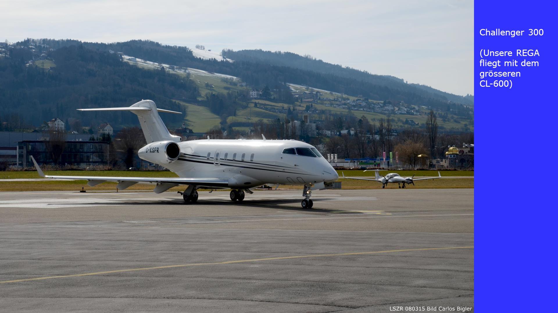 Challenger 300 (Unsere REGA fliegt mit dem grösseren CL-600)
