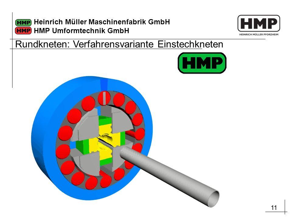 11 Heinrich Müller Maschinenfabrik GmbH HMP Umformtechnik GmbH Rundkneten: Verfahrensvariante Einstechkneten