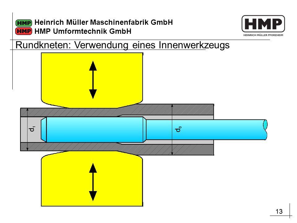 13 Heinrich Müller Maschinenfabrik GmbH HMP Umformtechnik GmbH Rundkneten: Verwendung eines Innenwerkzeugs