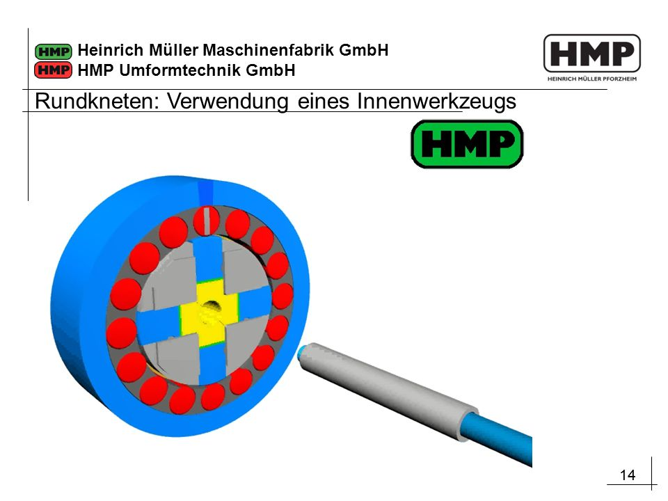 14 Heinrich Müller Maschinenfabrik GmbH HMP Umformtechnik GmbH Rundkneten: Verwendung eines Innenwerkzeugs
