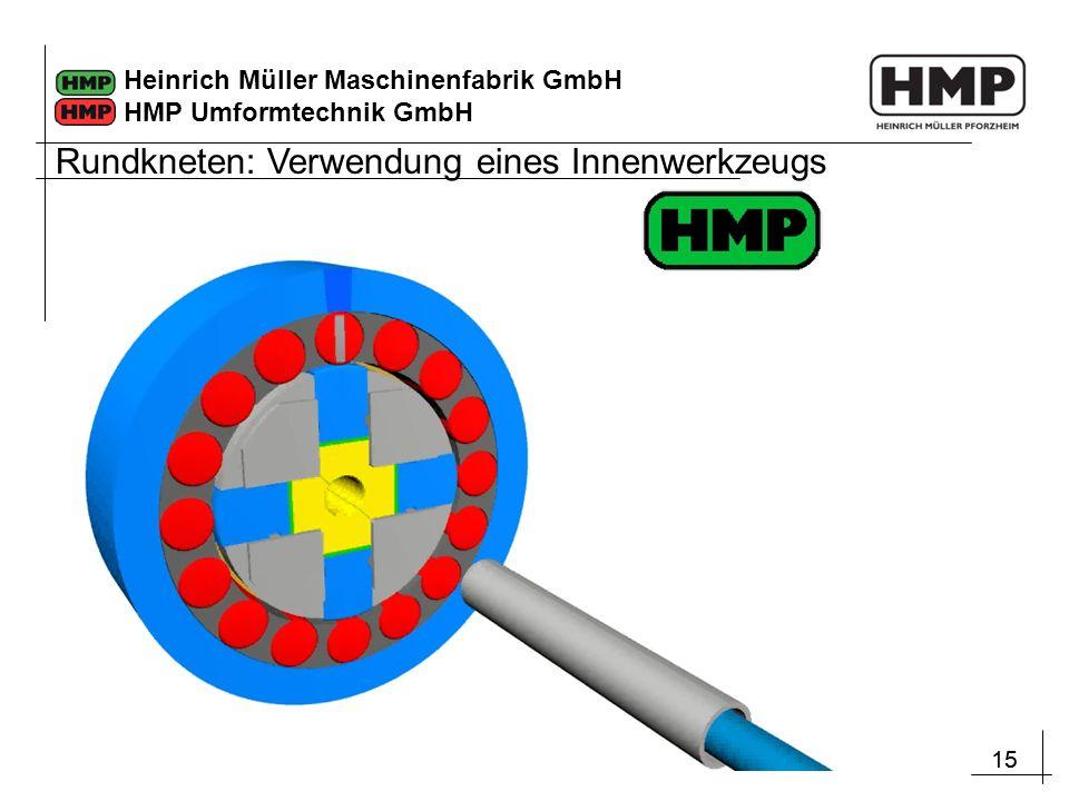 15 Heinrich Müller Maschinenfabrik GmbH HMP Umformtechnik GmbH Rundkneten: Verwendung eines Innenwerkzeugs
