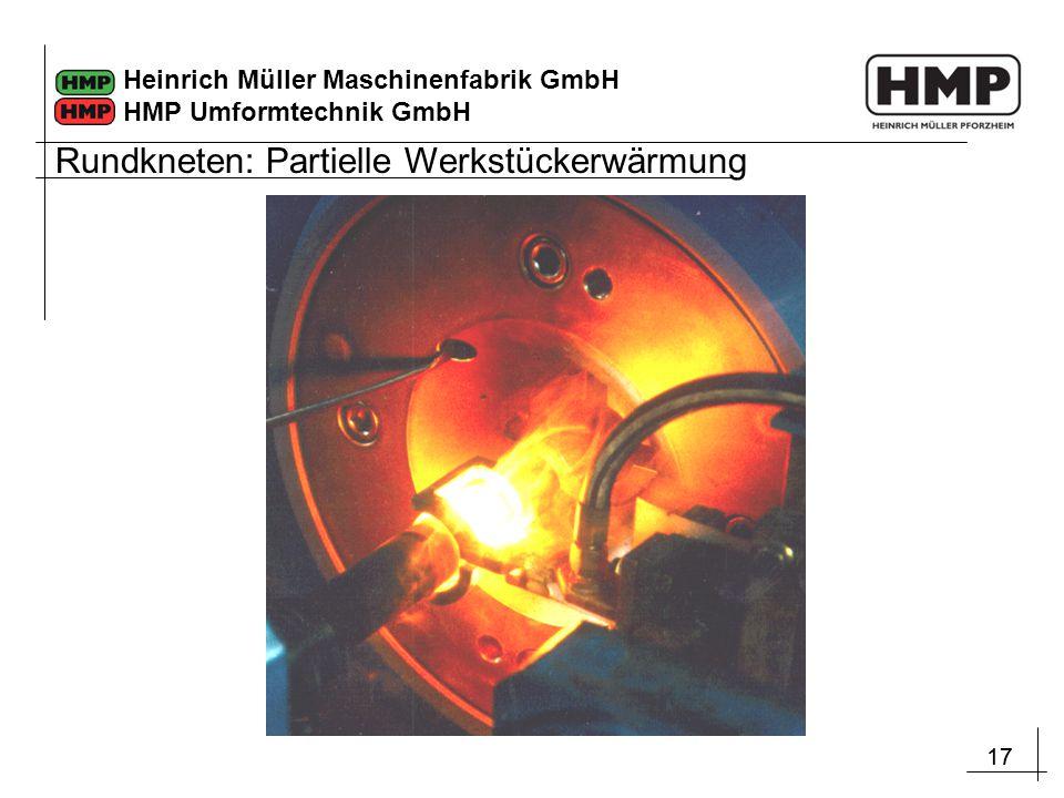 17 Heinrich Müller Maschinenfabrik GmbH HMP Umformtechnik GmbH Rundkneten: Partielle Werkstückerwärmung