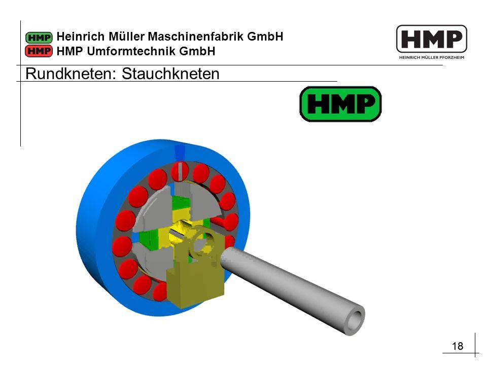 18 Heinrich Müller Maschinenfabrik GmbH HMP Umformtechnik GmbH Rundkneten: Stauchkneten