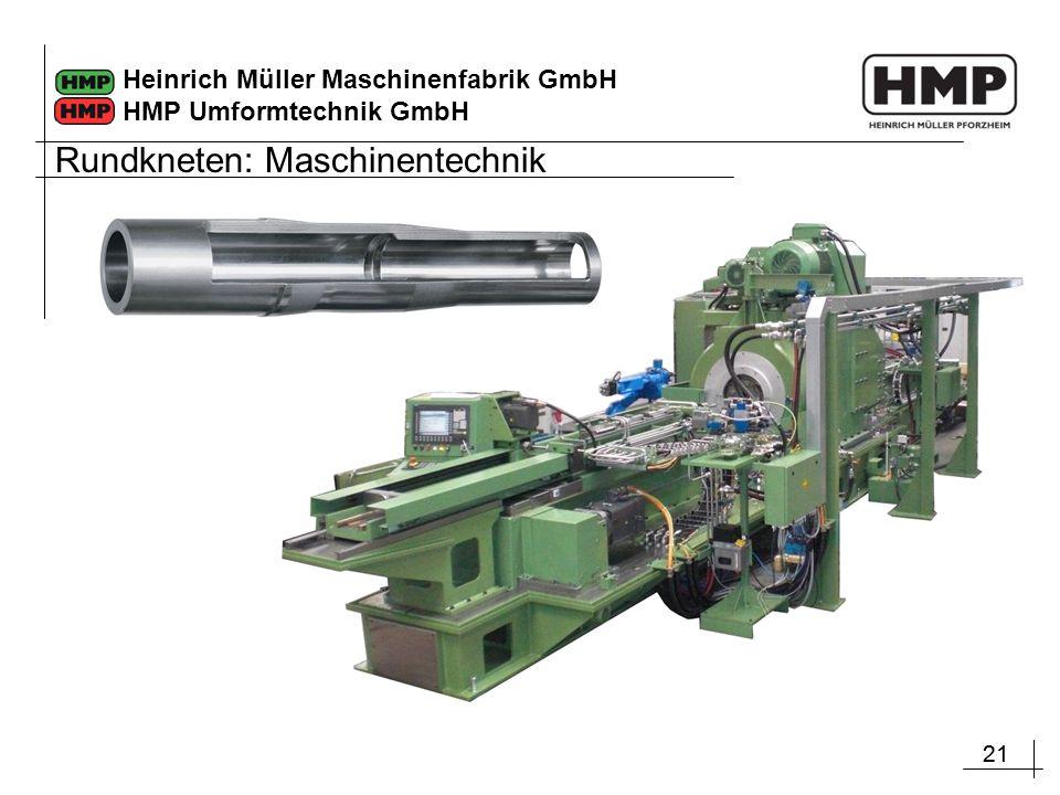 21 Heinrich Müller Maschinenfabrik GmbH HMP Umformtechnik GmbH Rundkneten: Maschinentechnik