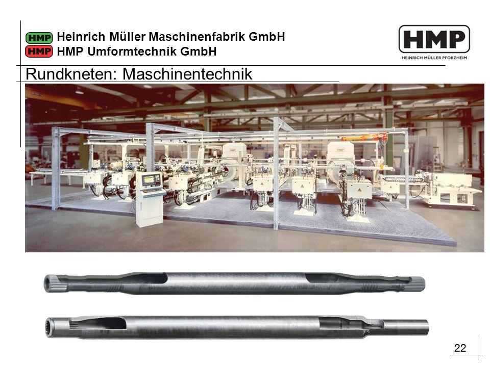22 Heinrich Müller Maschinenfabrik GmbH HMP Umformtechnik GmbH Rundkneten: Maschinentechnik