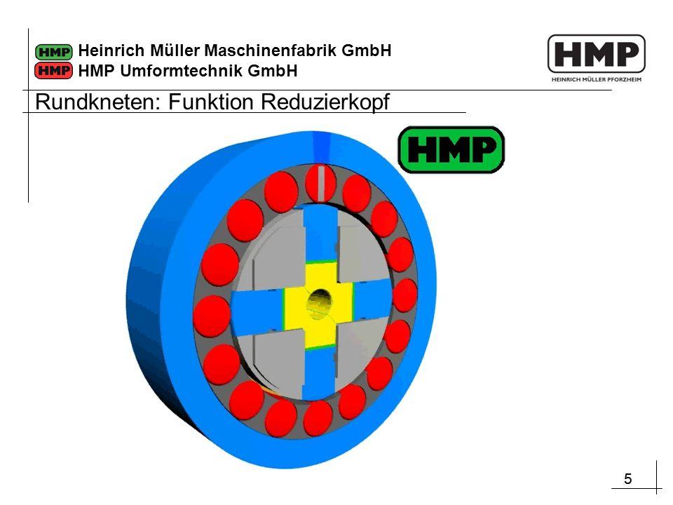 55 Heinrich Müller Maschinenfabrik GmbH HMP Umformtechnik GmbH Rundkneten: Funktion Reduzierkopf