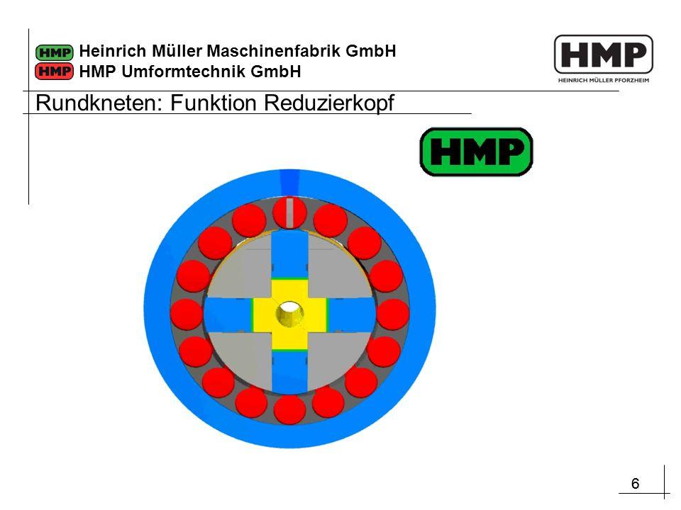 66 Heinrich Müller Maschinenfabrik GmbH HMP Umformtechnik GmbH Rundkneten: Funktion Reduzierkopf