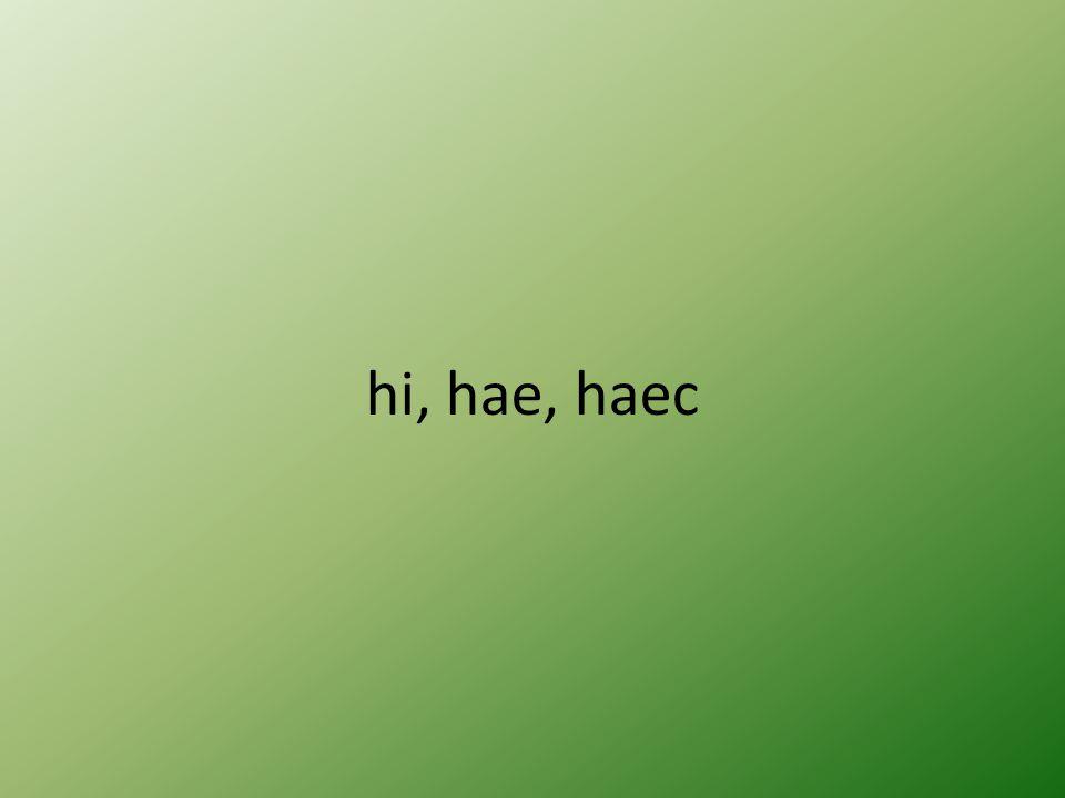 hi, hae, haec