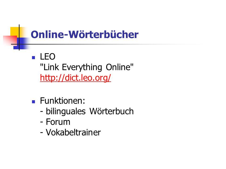 Online-Wörterbücher LEO