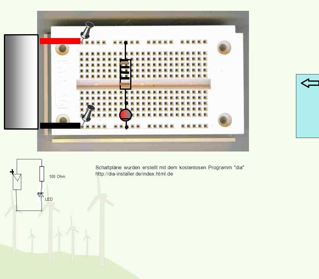 LED 100 Ohm Schaltpläne wurden erstellt mit dem kostenlosen Programm