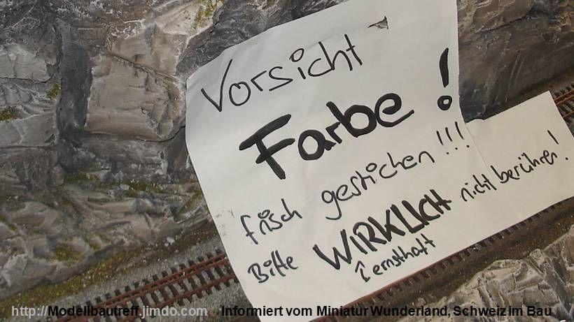 Informiert vom Miniatur Wunderland, Schweiz im Bauhttp://Modellbautreff.jimdo.com