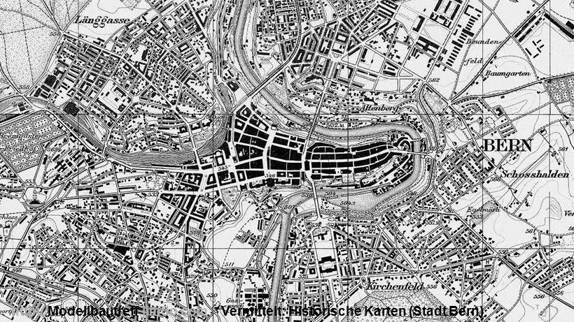 Vermittelt: Historische Karten (Stadt Bern)http://Modellbautreff.jimdo.com