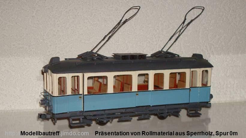 Präsentation von Rollmaterial aus Sperrholz, Spur 0m