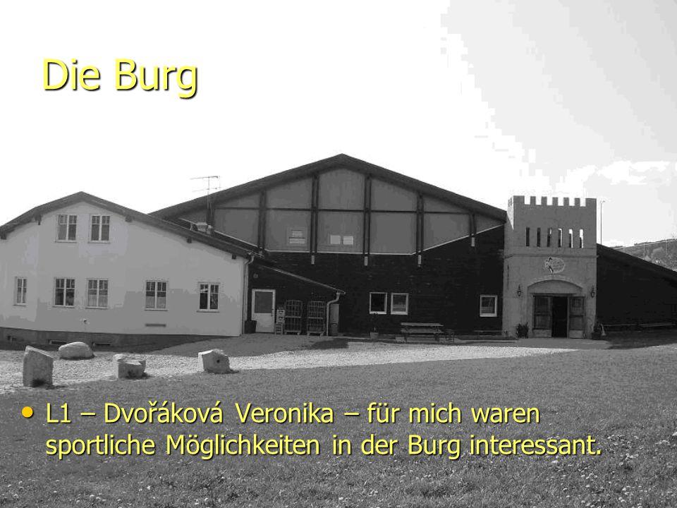 Die Burg L1 – Dvořáková Veronika – für mich waren sportliche Möglichkeiten in der Burg interessant.