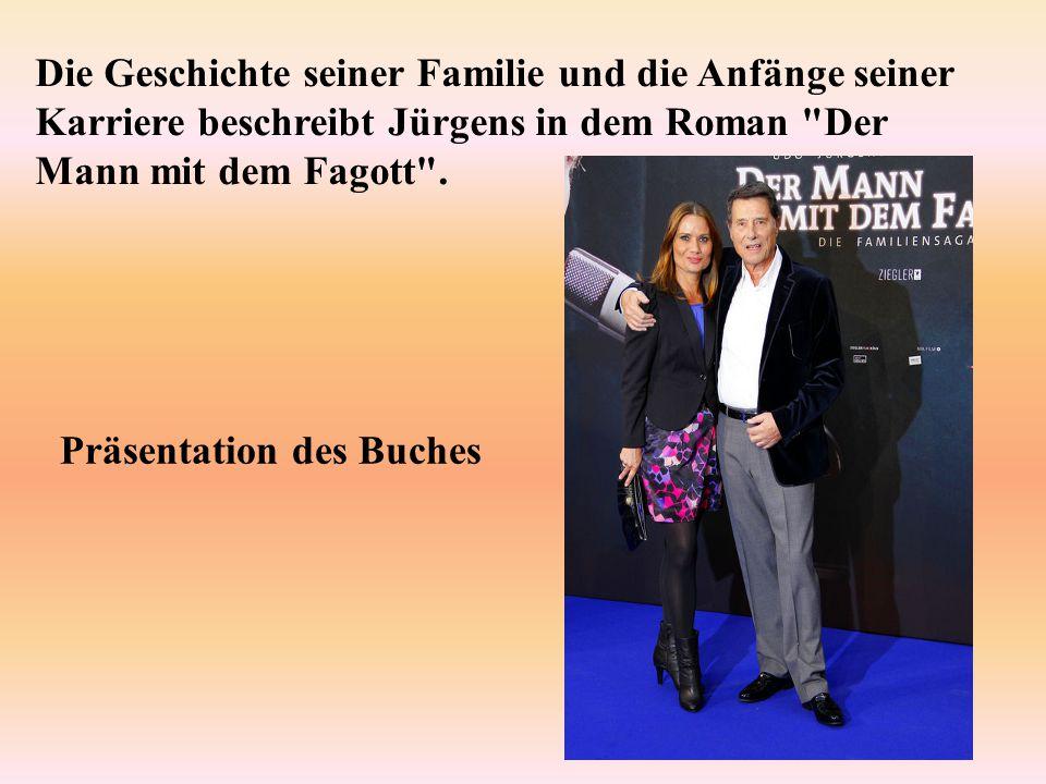 Die Geschichte seiner Familie und die Anfänge seiner Karriere beschreibt Jürgens in dem Roman