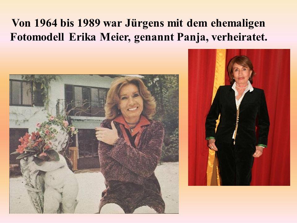 Von 1964 bis 1989 war Jürgens mit dem ehemaligen Fotomodell Erika Meier, genannt Panja, verheiratet.