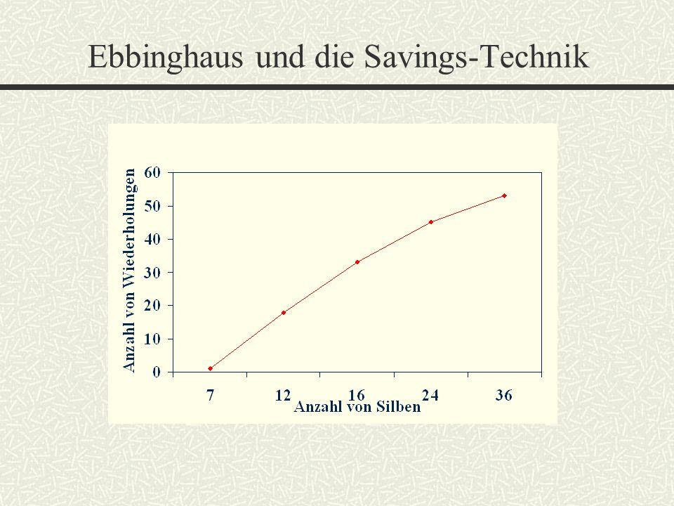 Ebbinghaus und die Savings-Technik