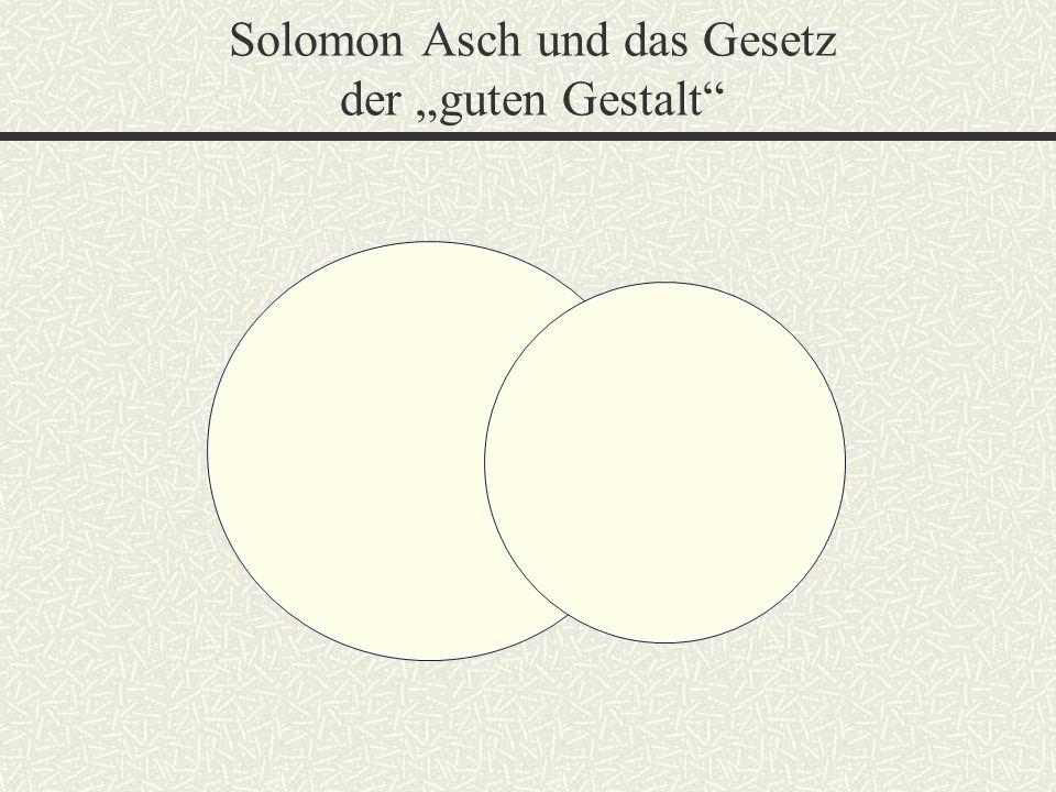 """Solomon Asch und das Gesetz der """"guten Gestalt"""""""