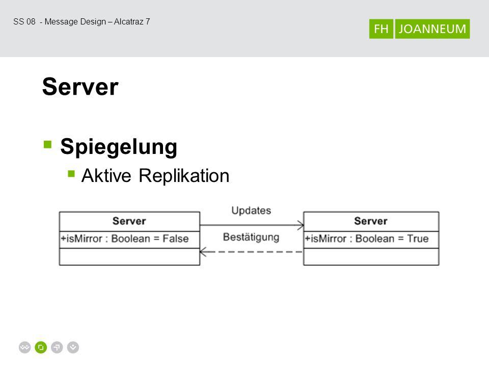 SS 08 - Message Design – Alcatraz 7 Server  Client  Push updates