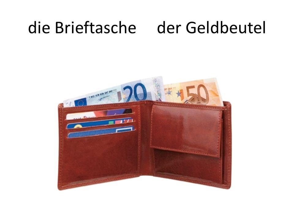 die Brieftasche der Geldbeutel