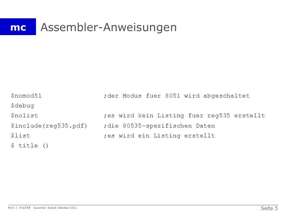 Seite 16 Prof.J. WALTER Kurstitel Stand: Oktober 2001 mc Bild 5.14.