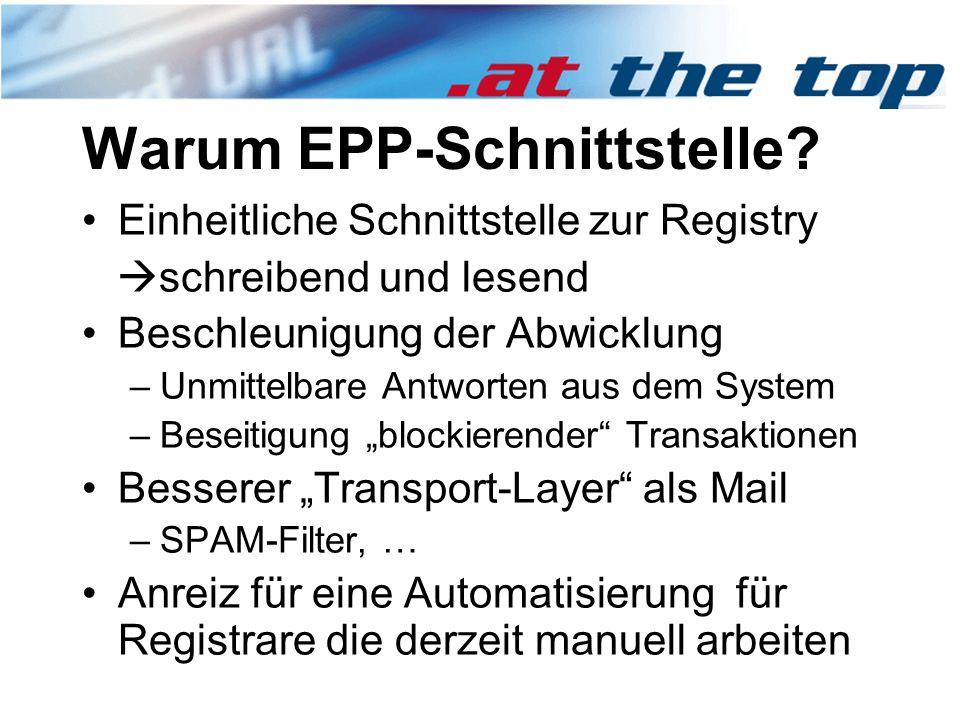 Warum EPP-Schnittstelle.