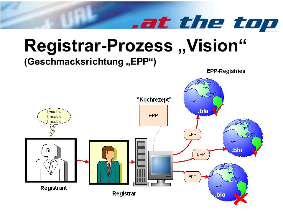 """Registrar-Prozess """"Vision (Geschmacksrichtung """"EPP )"""