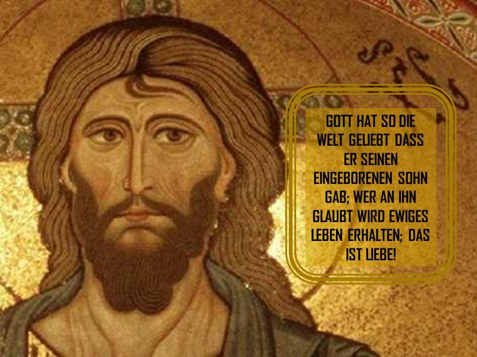 """Gott gab seinen eigenen Sohn vor 2000 Jahren und ließ ihn am Kreuz sterben. Der Aktionär sagte: """"Der Sohn, der Sohn, wer nimmt den Sohn?"""" Du siehst, w"""