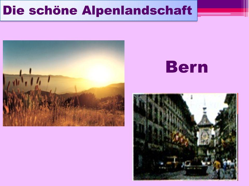 Die schöne Alpenlandschaft Bern
