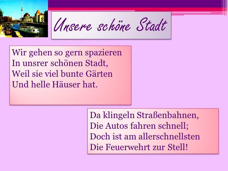 Beschreiben wir Nürnberg.In Nürnberg ist … das Albrecht Dürer Haus.