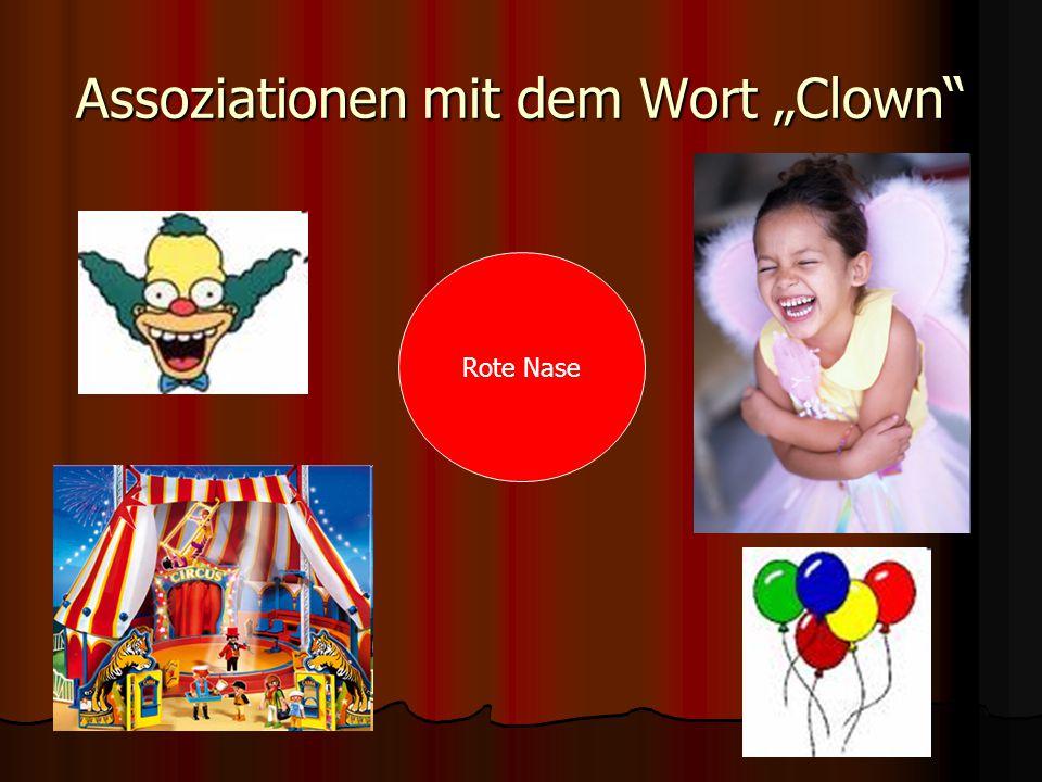 """Assoziationen mit dem Wort """"Clown Rote Nase"""