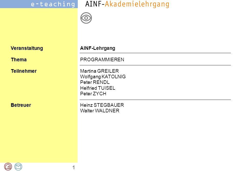 2 Programmieren Beispiel: Würfelpokerspiel Aufgabenstellung Funktionsbeschreibung Eingesetzte Komponenten Programmiergehalt Lösungsansatz Aufgabenstellung Programmieren eines Würfelpokerspiels