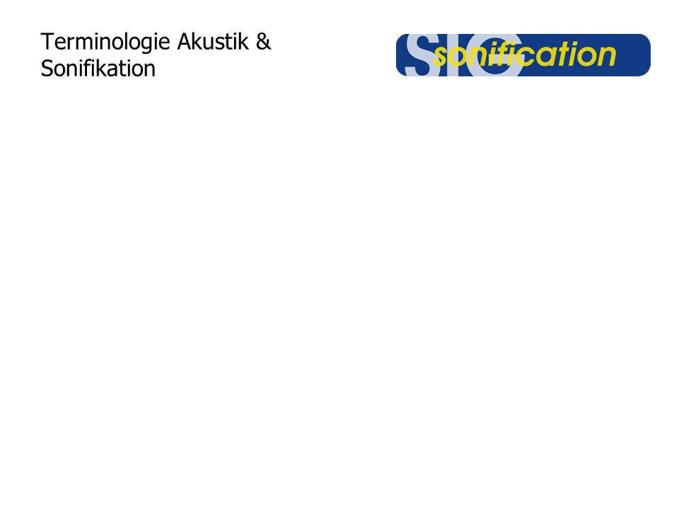 Terminologie Akustik & Sonifikation