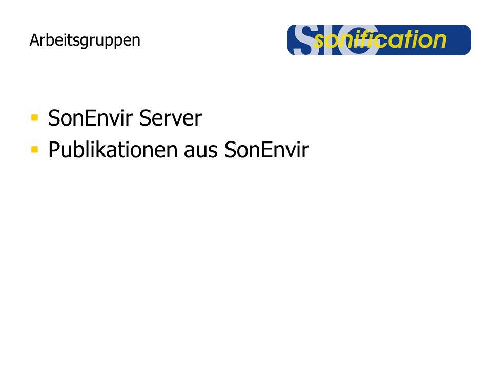 Arbeitsgruppen  SonEnvir Server  Publikationen aus SonEnvir