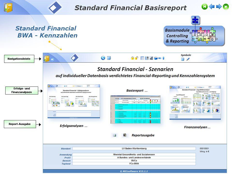 Standard Financial BWA - Kennzahlen Standard Financial Basisreport Basismodule Controlling & Reporting