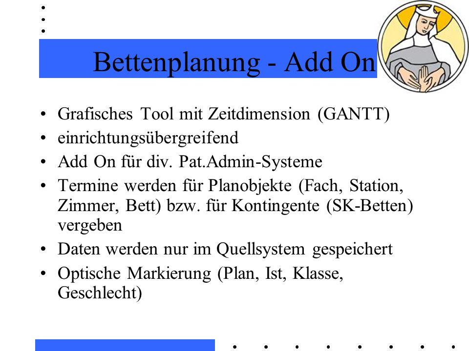 Bettenplanung - Add On Grafisches Tool mit Zeitdimension (GANTT) einrichtungsübergreifend Add On für div.