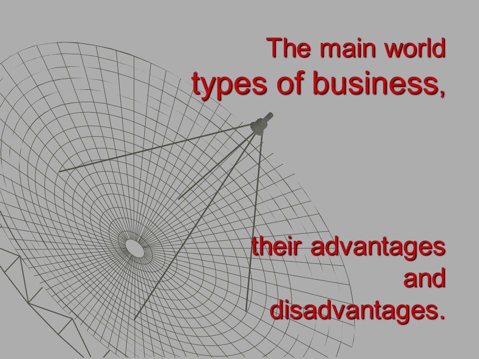 Types of Enterprises According to the ownership forms According to the organisational forms According to the activity According to the size 1.