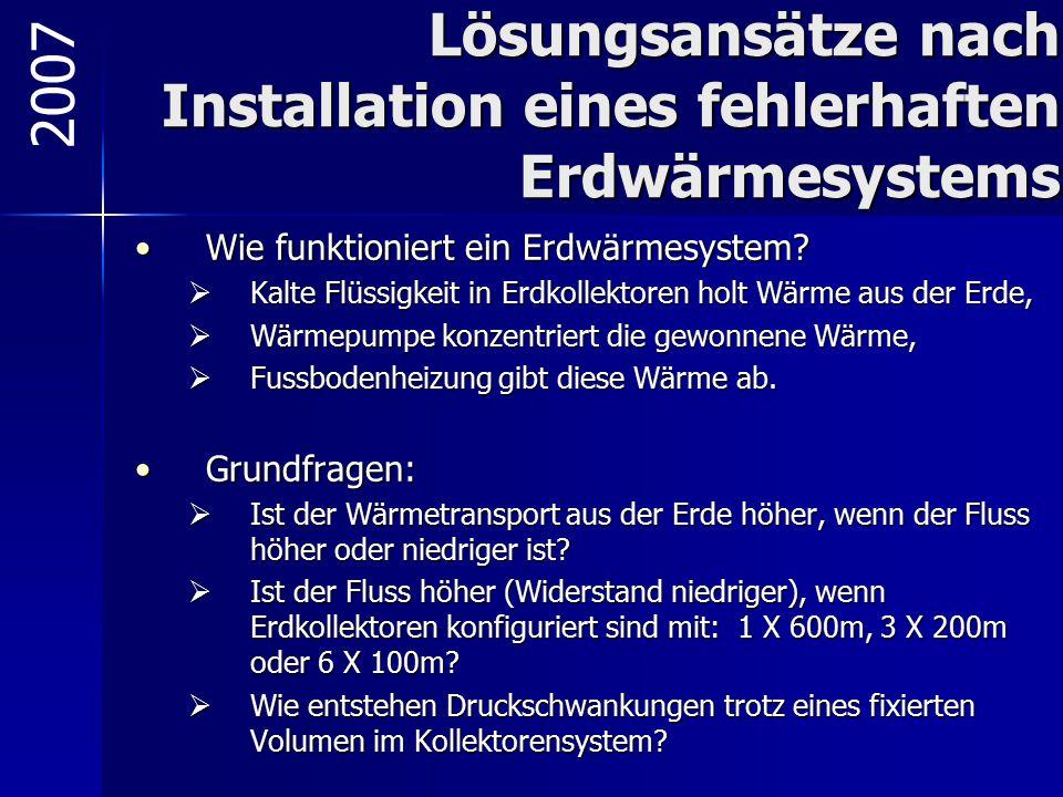 Lösungsansätze nach Installation eines fehlerhaften Erdwärmesystems Wie funktioniert ein Erdwärmesystem?Wie funktioniert ein Erdwärmesystem?  Kalte F